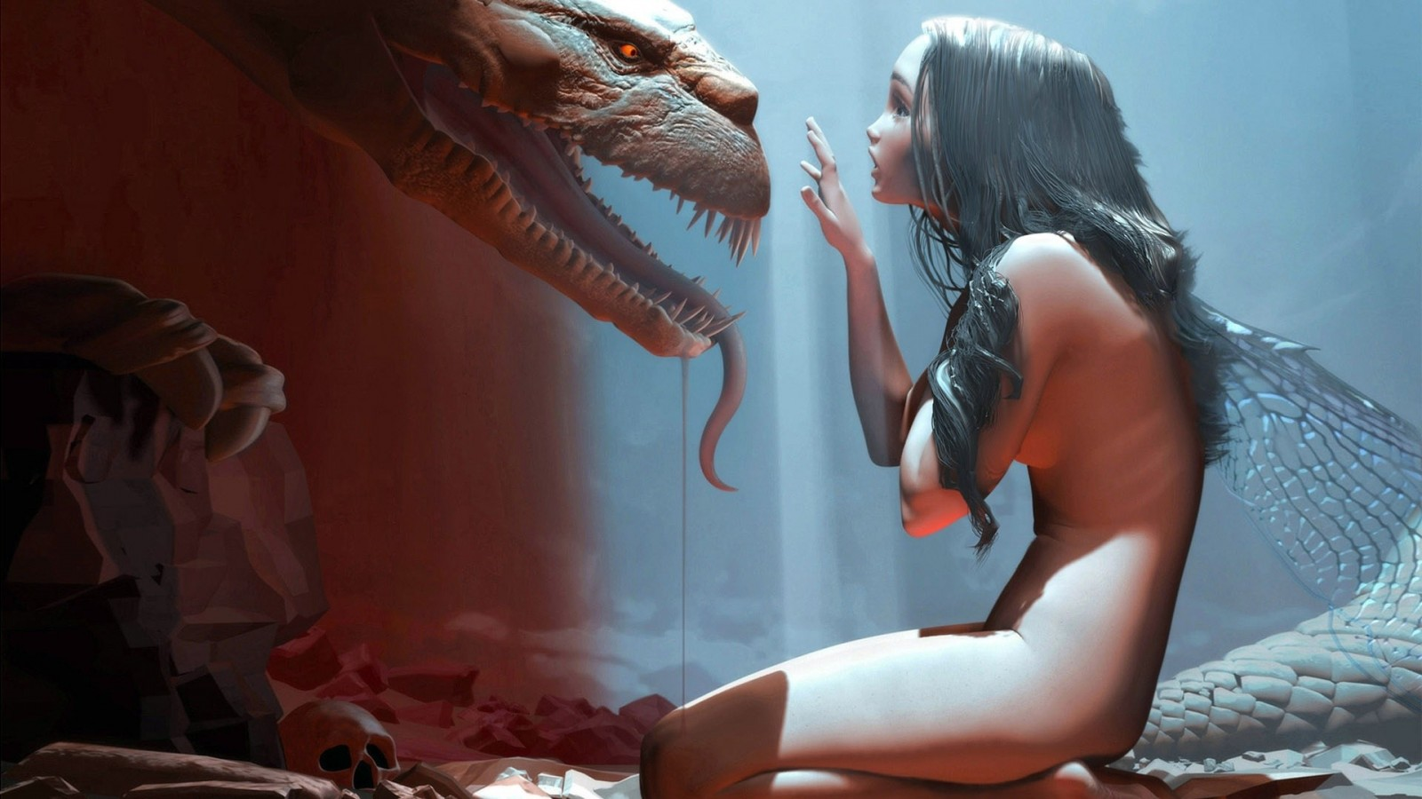 Dragon nude babes wallpaper naked drunk porn star