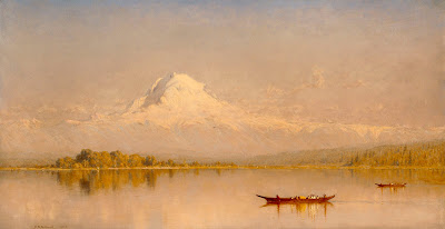 Sanford Robinson Gifford: Mount Rainer, Bay of Tacoma – Puget Sound (1875)
