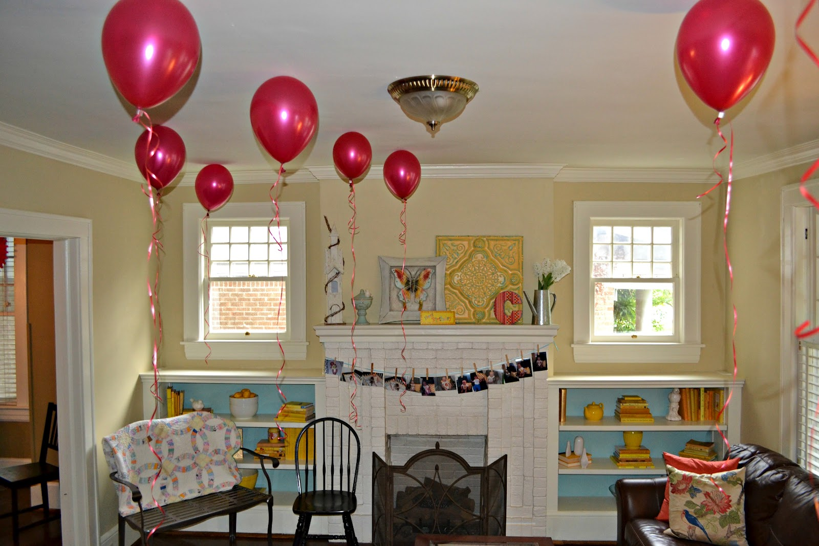 E myself and i july 2012 for Room decor ideas with balloons