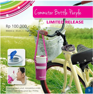 Tupperware Commuter Bottle Purple