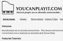 Aprender a tocar el piano con Youcanplayit.com