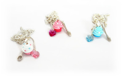 Polymer clay Cupcake Charm Necklace New at Lottie Of London on Etsy