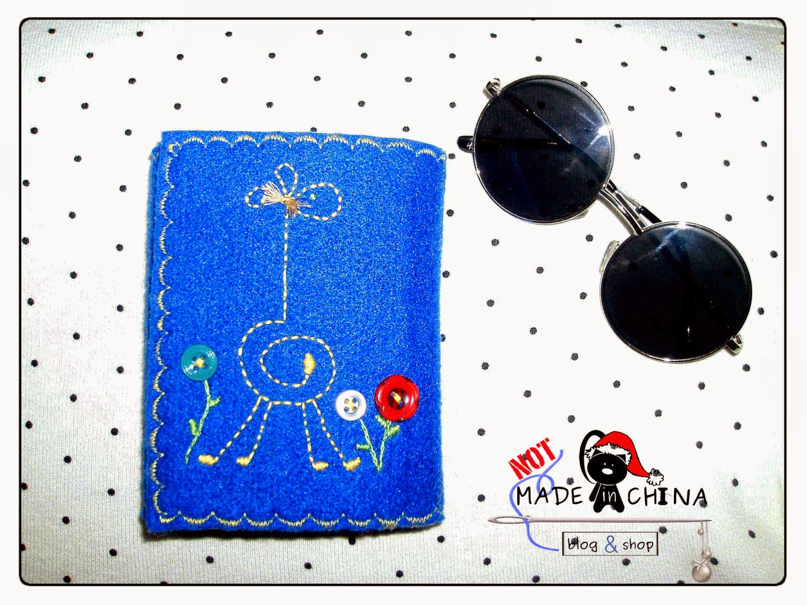 portfel z filcu handmade