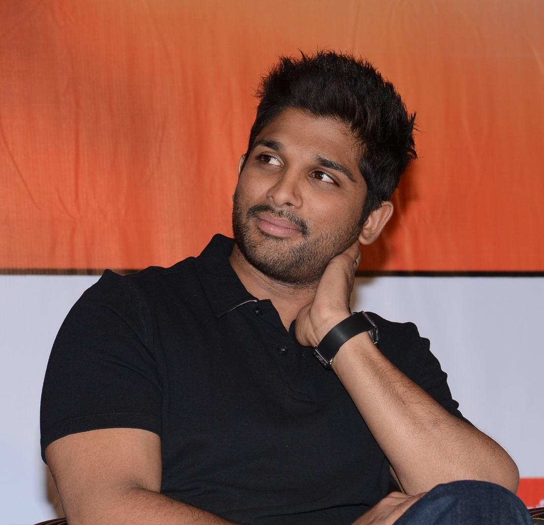 Allu Arjun Latest Photos In Black Shirt