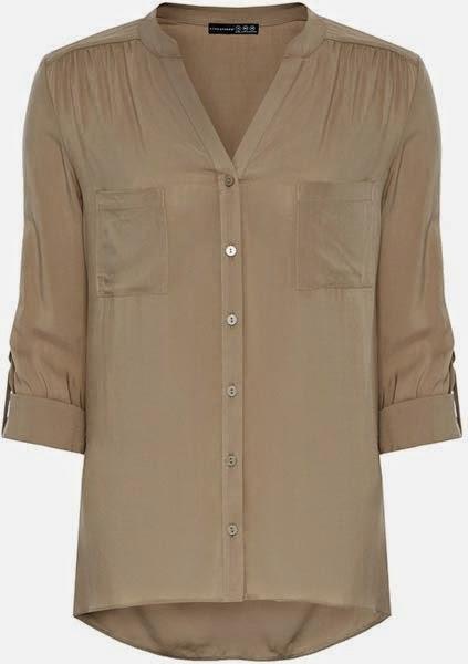 Camisa de color camel para mujer