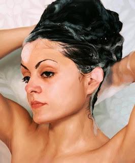 shampooing with dandruff shampoo