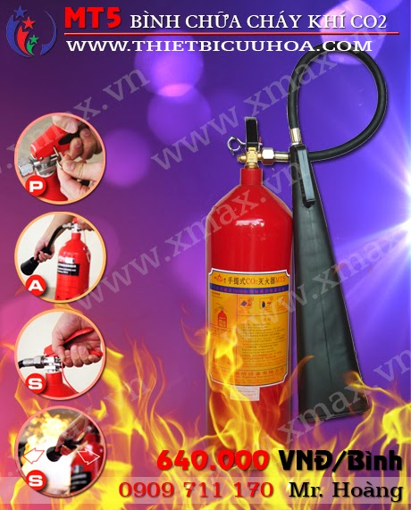bình cứu hỏa khí co2 5kg mt5