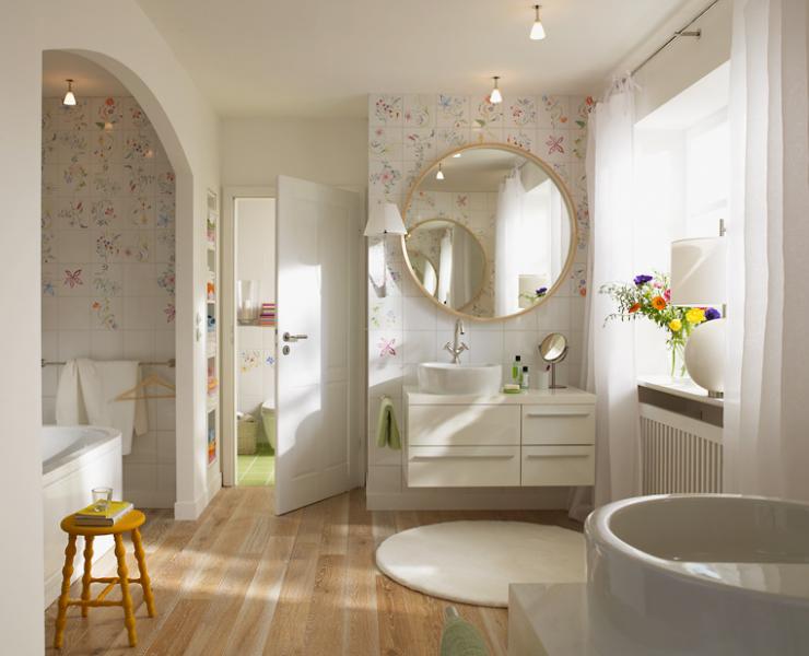 Badezimmer Dekorieren Bilder: Ideen Wie Sie Kleines Bad Gestalten ... Badezimmer Bord Beispiel