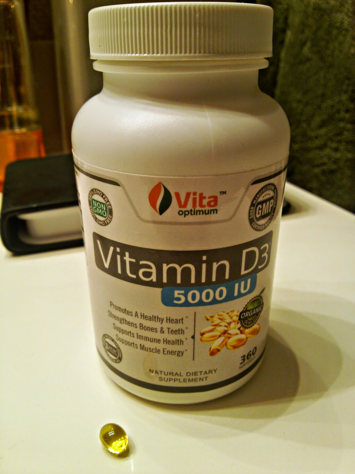 Vita Optimum Vitamin D3 5000 IU Review & Giveaway