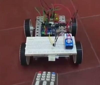 IR TV remote control robot - Arduino