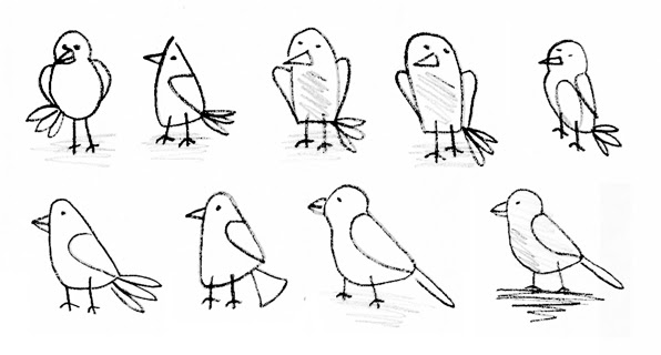 how to draw a simple bird wing
