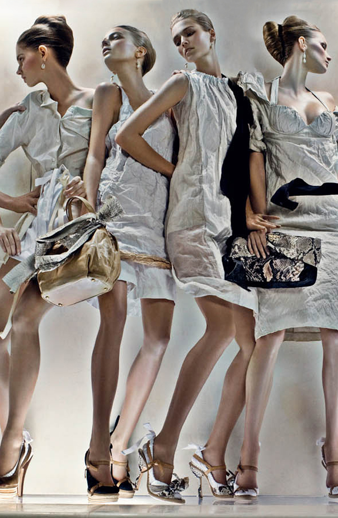 Prada Spring 2009 ad campaign by Steven Meisel