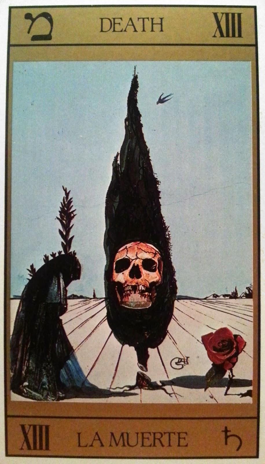 La Muerte. Tarot de Dalí