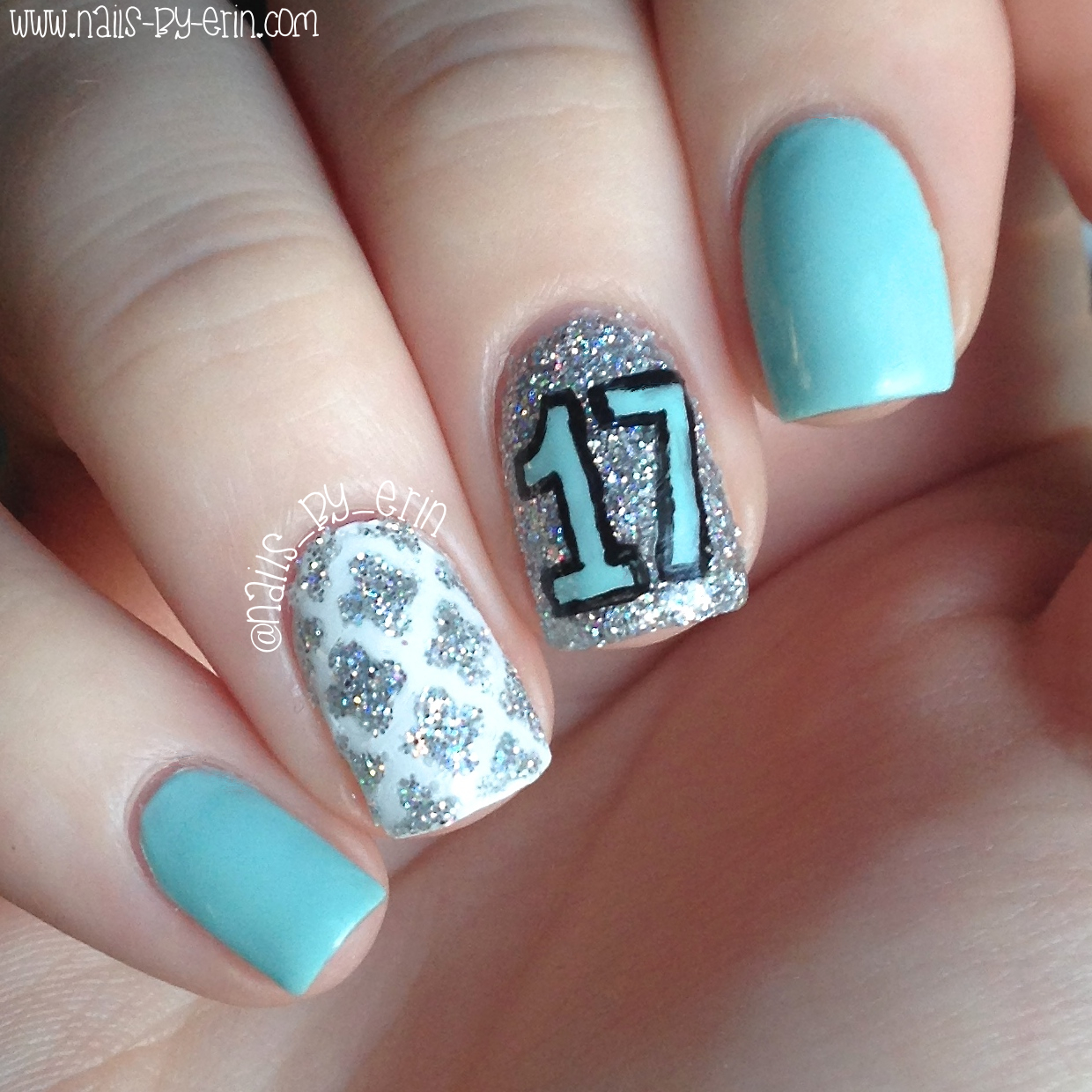 NailsByErin: My 17th Birthday Nails