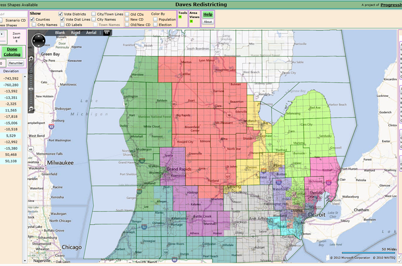 Red Racing Horses 94 Michigan Congressional Map In 2020