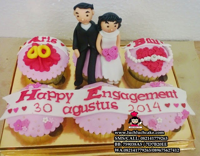 Cupcake Lamaran Engagement Daerah Surabaya - Sidoarjo