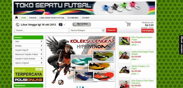 toko online sepatu futsal dan perlengkapan futsal