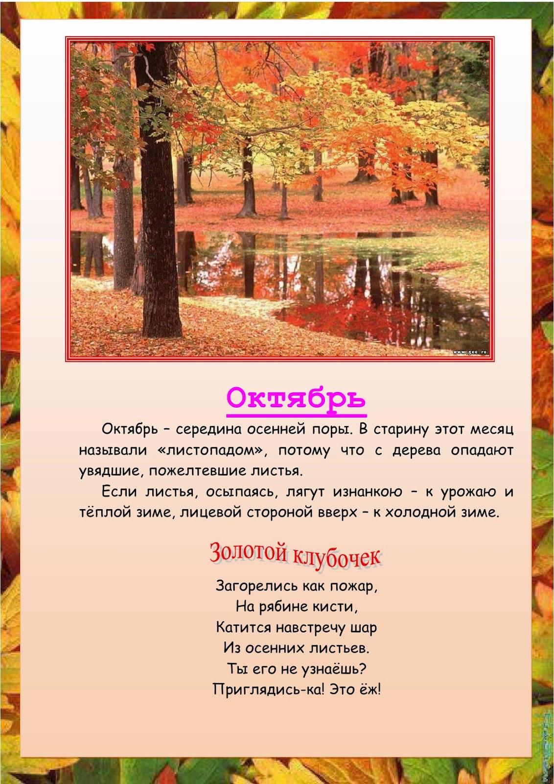 Осень сентябрь октябрь ноябрь картинки