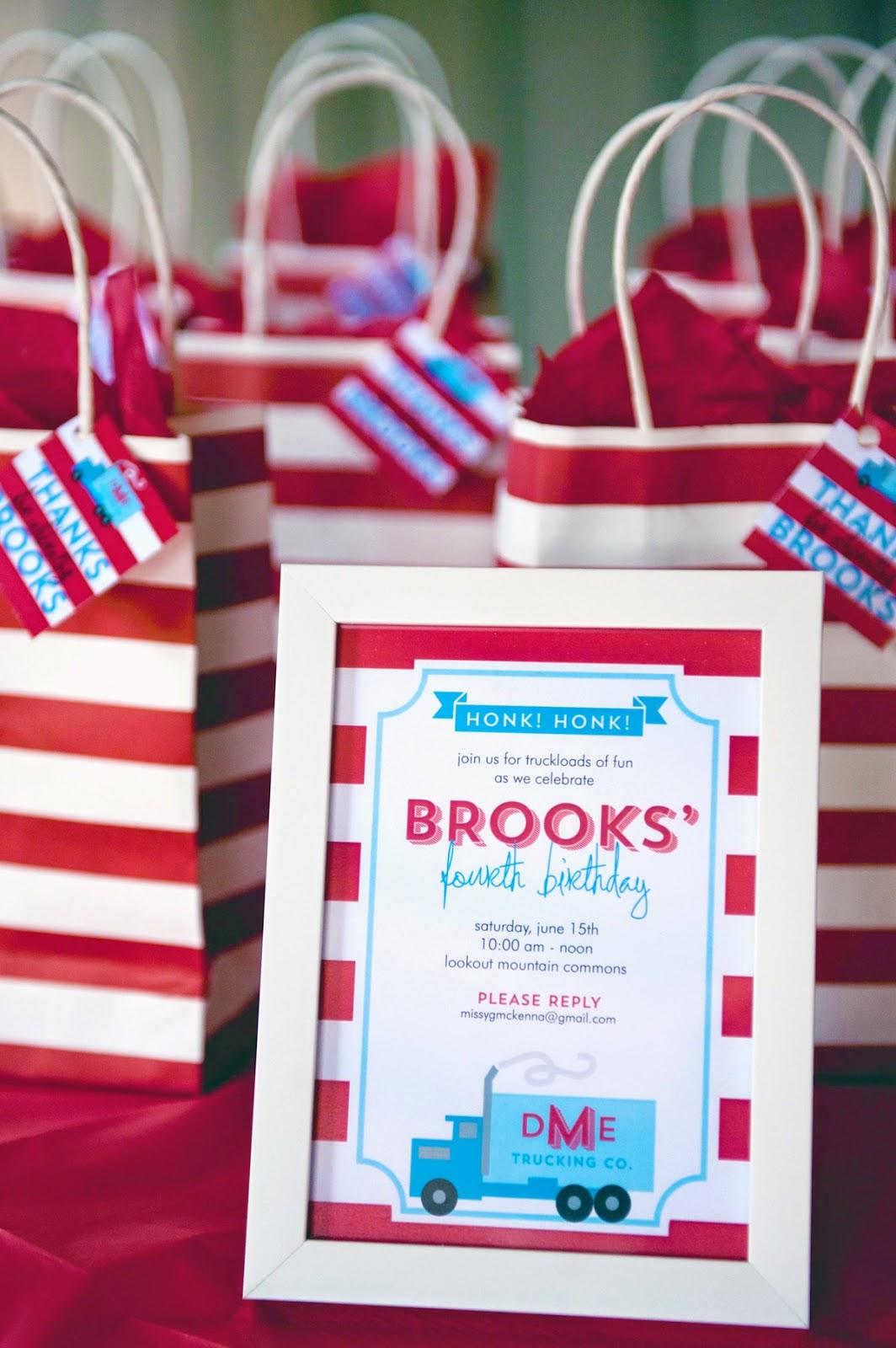 Brooks' Big Rig Birthday Party