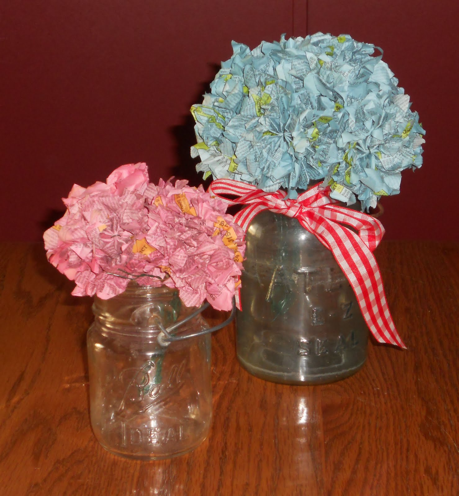 Wedding Wednesdays: Recycled Phonebook Hydrangea Centerpieces – The ...