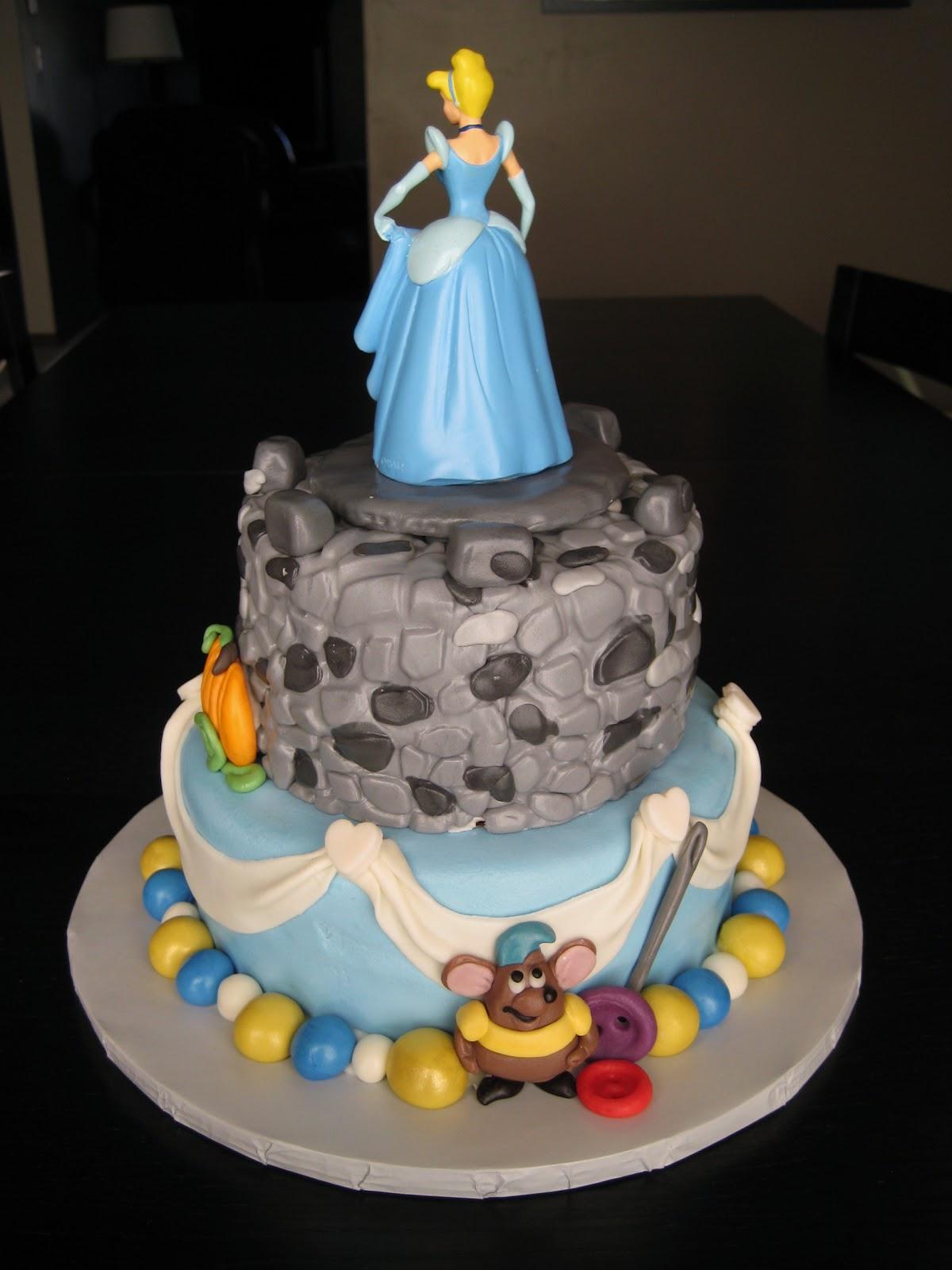 Princess Cake Topper Orange