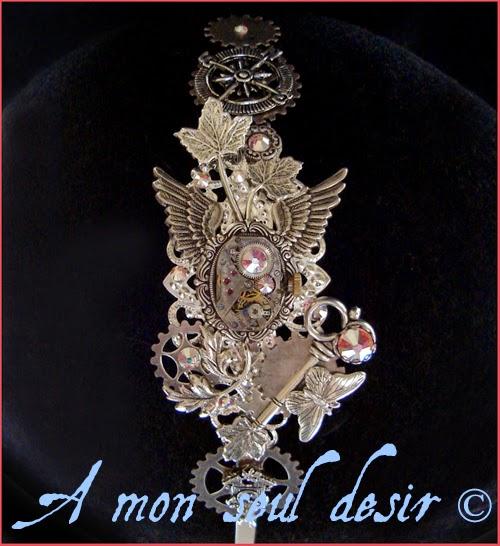 Serre-tête Steampunk Bijouterie Mouvement de montre Mécanisme Rouages SpringTime Headband Headdress ClockWork Watch Work Jewelry