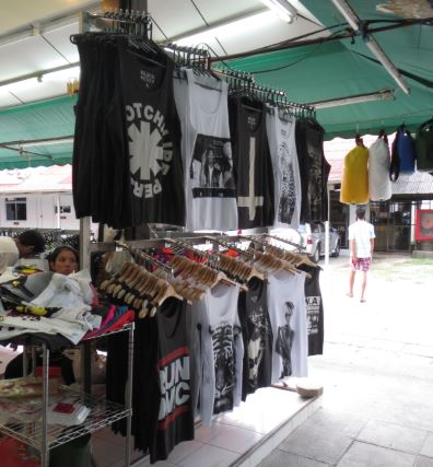 Vests with band logos and graphic prints near Chaweng Beach