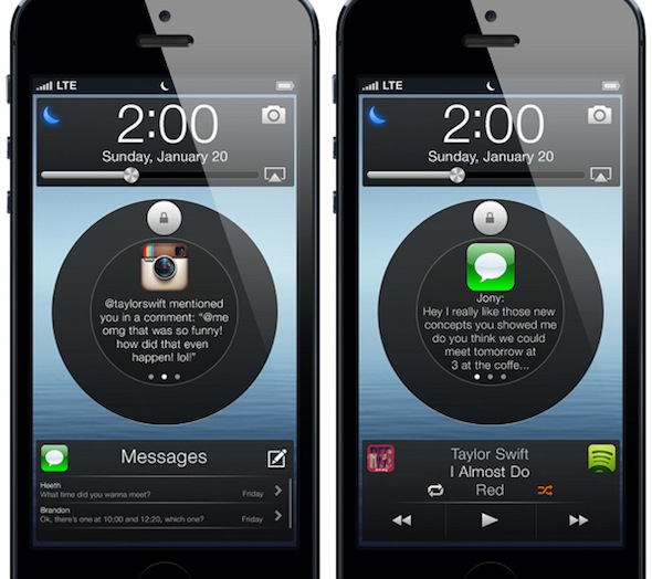 ios lockscreen mockup header iOS 7 Expected Features