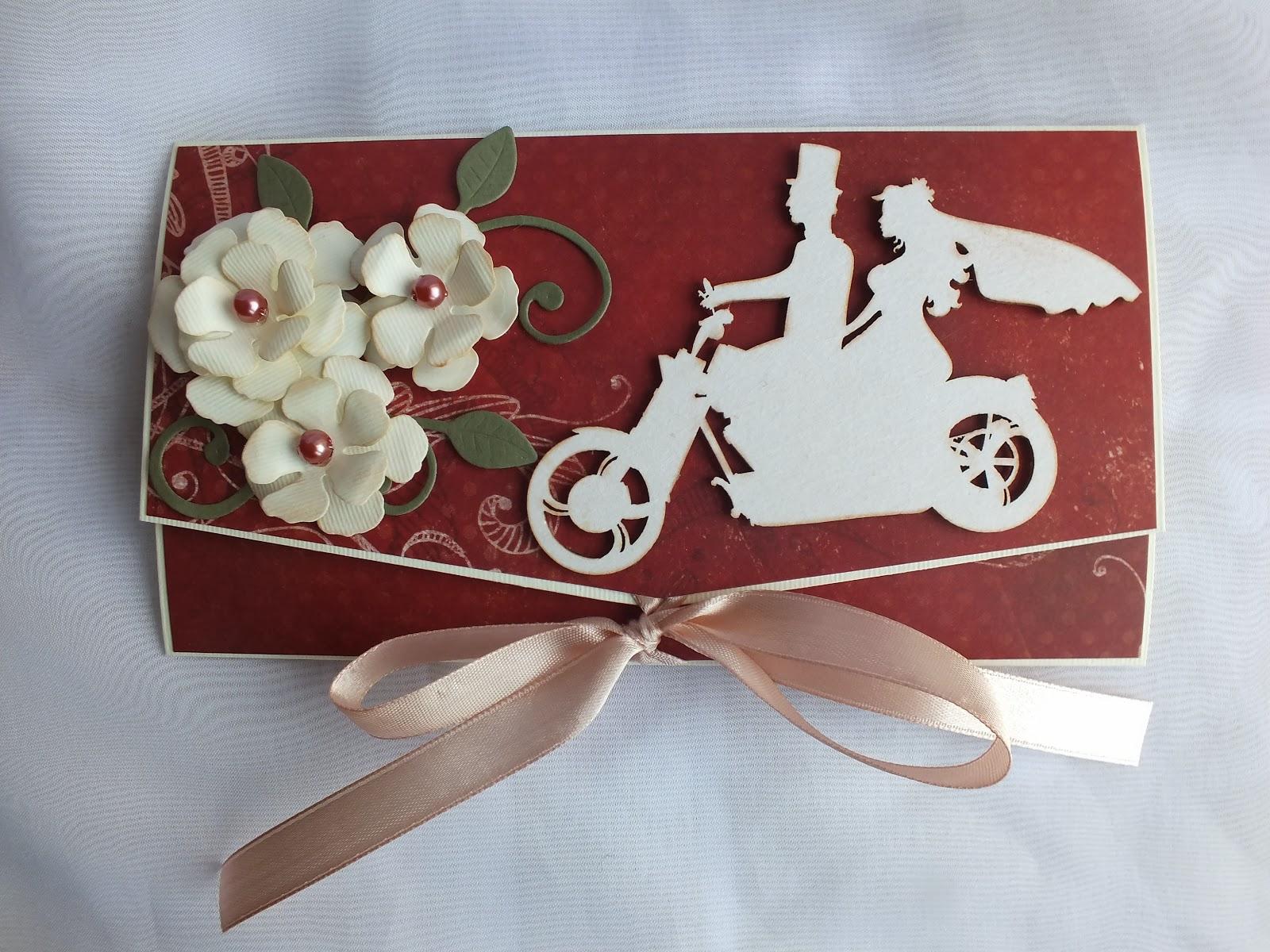 Kartki Dorofi ślubna Kopertówka Dla Pary Zapalonych Motocyklistów