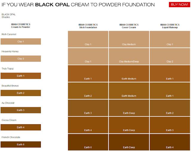 Black Opal Foundation Color Chart Elleg360 Black Opal True Color
