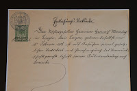 Hermann Heinrich Wenning Emigration Document
