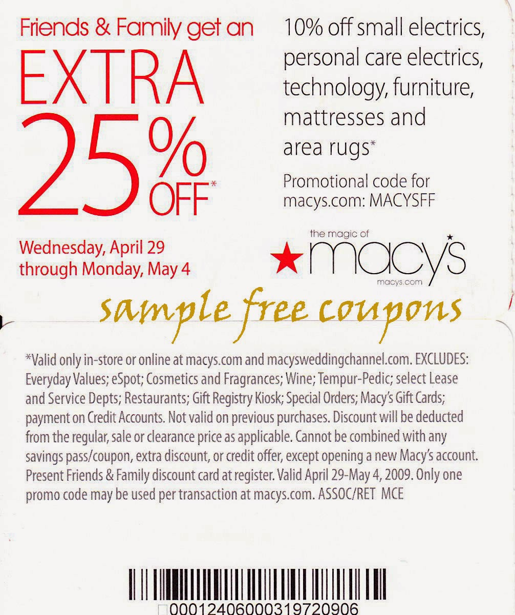 Coupon codes for macys