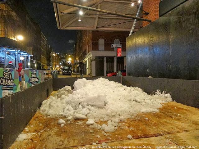 Единственный снег, что я встретил в Рождественский сочельник