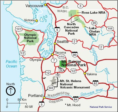 Our World Outside Olympic National Park: Map Washington State National Parks At Usa Maps