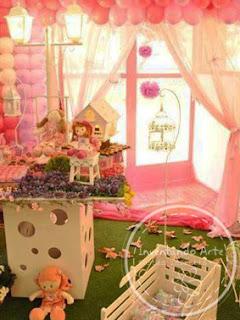 festa infantil rosa lilas casinha de boneca prudentópolis