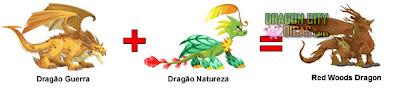 Dragão Bosque Vermelho - Cruzamento