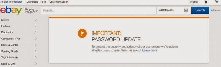 how to change ebay username and password