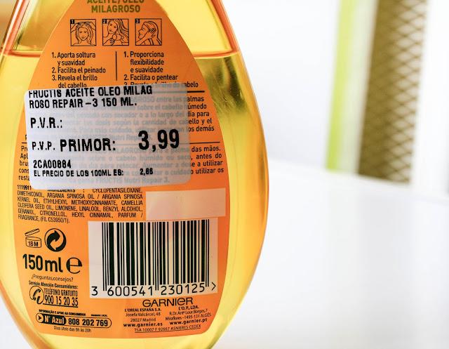 Garnier Fructis Aceite Milagroso
