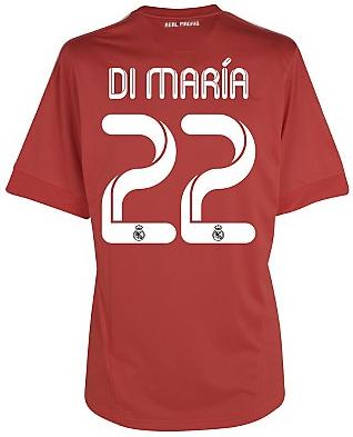 camiseta Real Madrid Champions roja Di María
