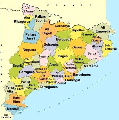Mapa comarques
