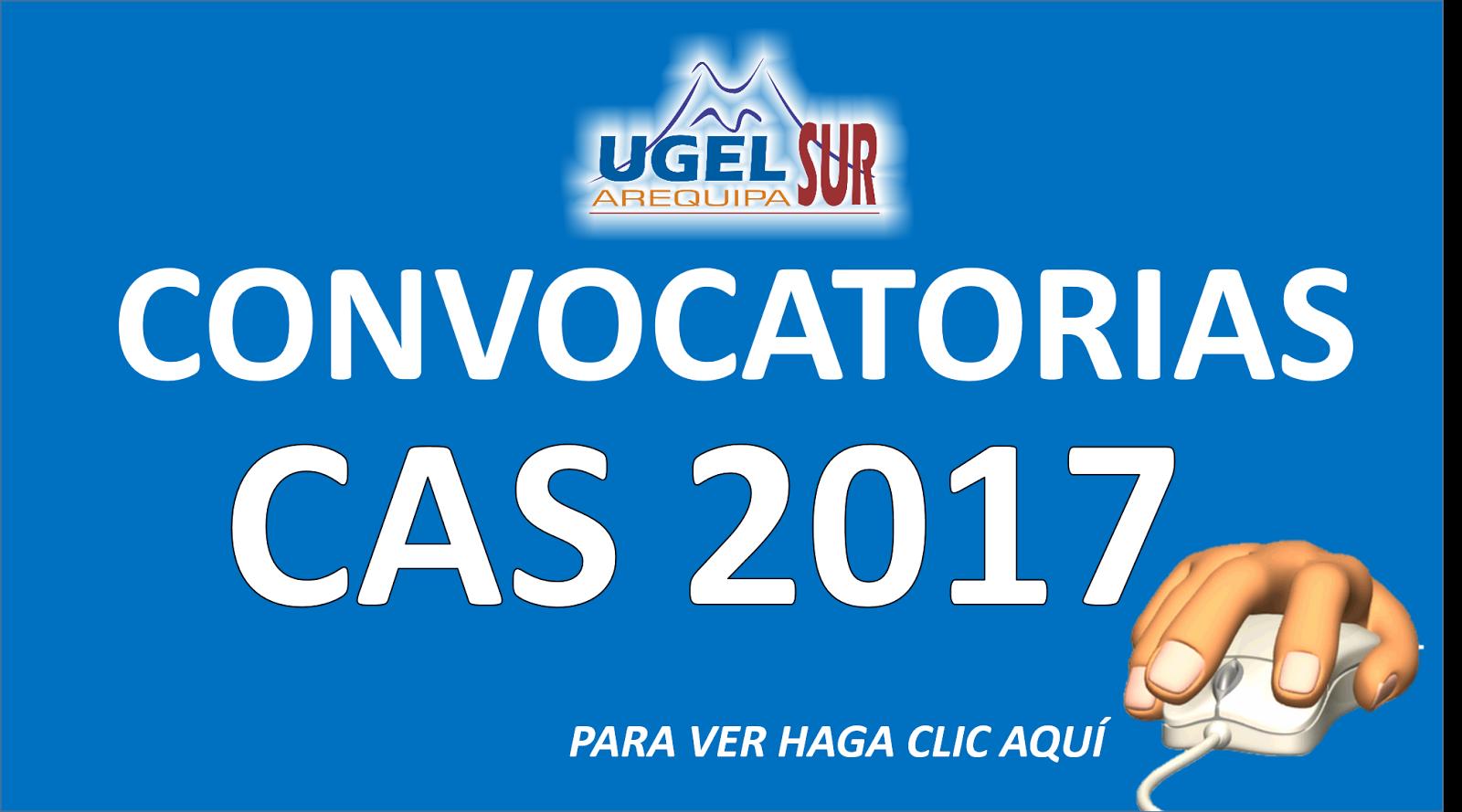 CONVOCATORIAS CAS 2017