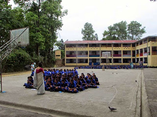 Earthuake damaged St. Phimomina School in Kalimpong