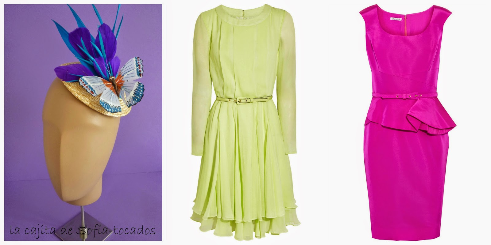 Vestido corto color buganvilla