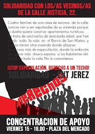 CNT Jerez de la Frontera - Concentración de apoyo, viernes 15 de diciembre, con l@s vecin@s de la c