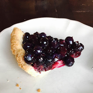 Raw blueberry pie recipe