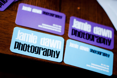 photographer blue and purple business cards with round corners printed at GotPrint