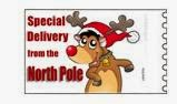 santa will write northpole stamp