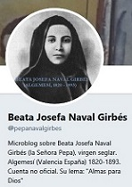 Microblog en Twitter sobre la Beata Josefa Naval Girbés