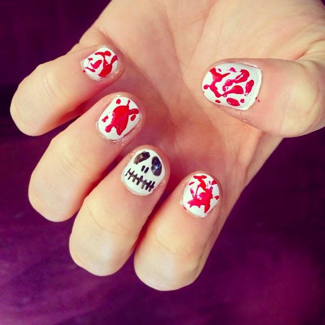 halloween nail art idee
