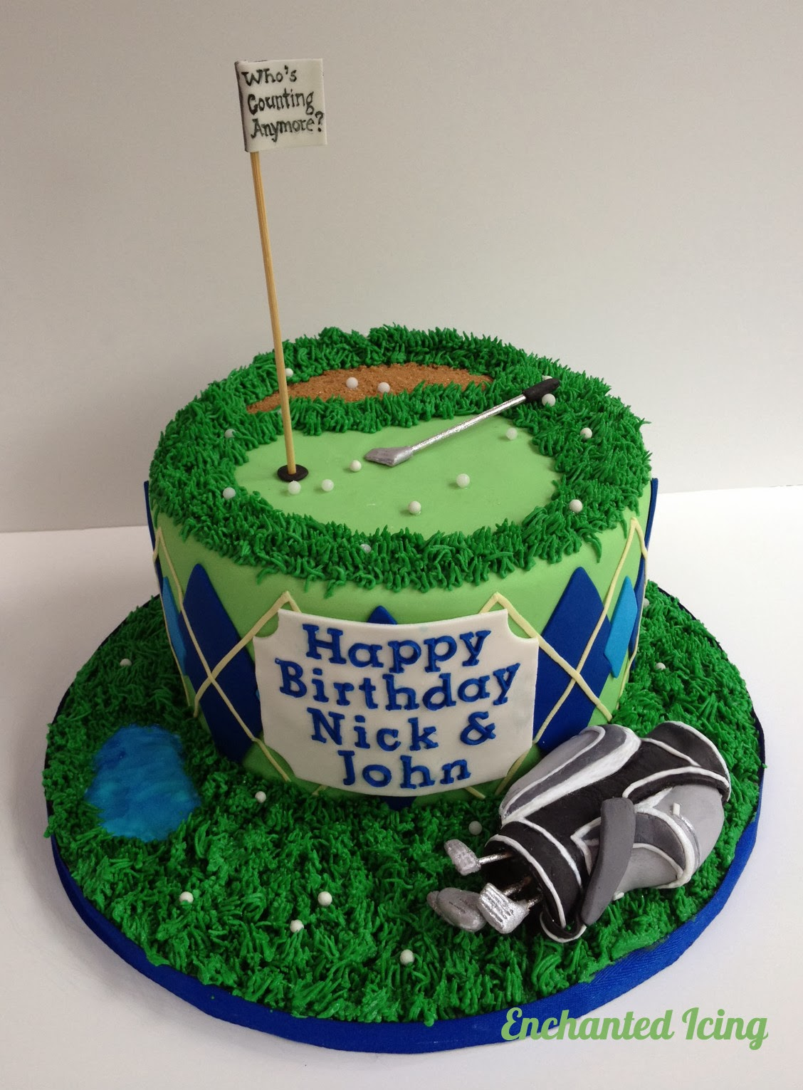 Enchanted Icing Golf cake